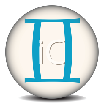 Royalty Free Clipart Image of the Gemini Symbol