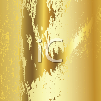 Royalty Free Clipart Image of a Vibrant Gold Metallic Background