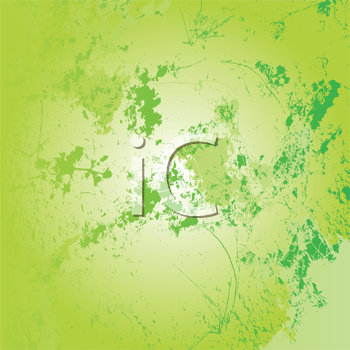 Royalty Free Clipart Image of a Light Green Grungy Background