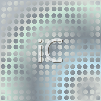 Royalty Free Clipart Image of a Metallic Silver Border