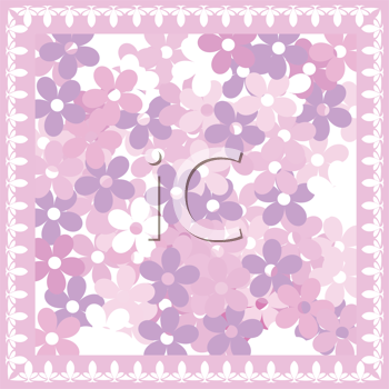 Royalty Free Clipart Image of a Spring Flower Background