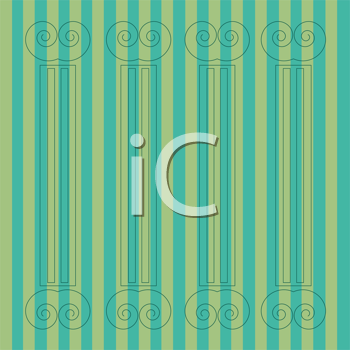 Royalty Free Clipart Image of a Stripes and Columns Background