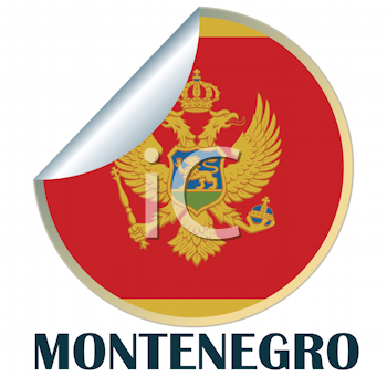 Royalty Free Clipart Image of a Sticker for Montenegro