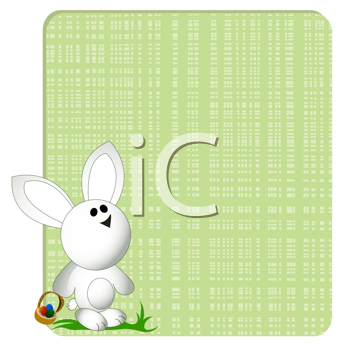 Easter bunny card, greeting