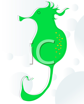 Background skecth of a stylized sea horse