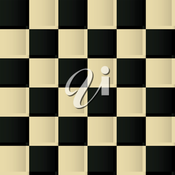 Vintage chess board seamless pattern