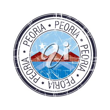 City of Peoria, Arizona postal rubber stamp, vector object over white background