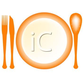Royalty Free Clipart Image of a Table Setting