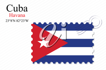 cuba design over stripy background, abstract vector art illustration, image contains transparency