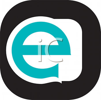 Royalty Free Clipart Image of a Lower Case E