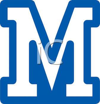 Royalty Free Clipart Image of an M