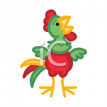 Royalty Free Clipart Image of a Chicken