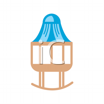 Royalty Free Clipart Image of a Baby's Crib