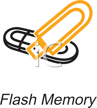 Royalty Free Clipart Image of a Flash Memory