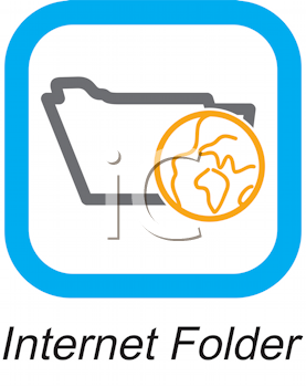 Royalty Free Clipart Image of an Internet Folder Button
