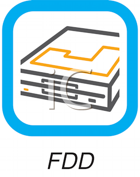 Royalty Free Clipart Image of an FDD