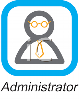 Royalty Free Clipart Image of an Administrator Button