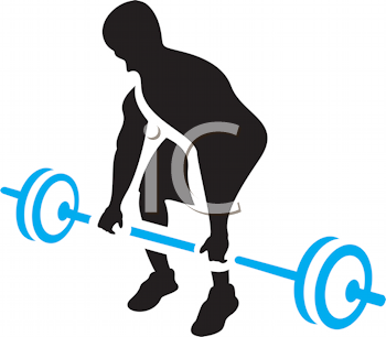 Royalty Free Clipart Image of a Man Lifting Weights