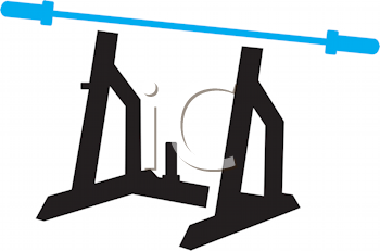 Royalty Free Clipart Image of Exercise Equipment