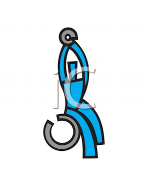 Royalty Free Clipart Image of a Person Exercising