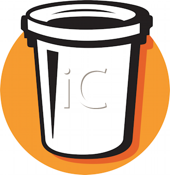 Royalty Free Clipart Image of a Garbage Container