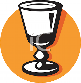 Royalty Free Clipart Image of a Glass