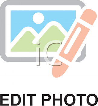 Royalty Free Clipart Image of an Edit Photo Icon