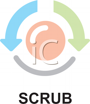 Royalty Free Clipart Image of a Scrub Button