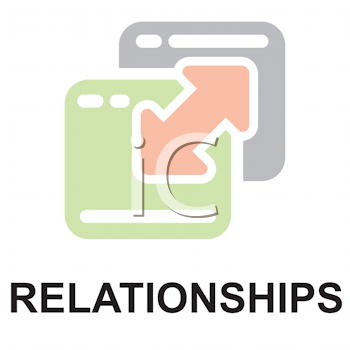 Royalty Free Clipart Image of a Relationships