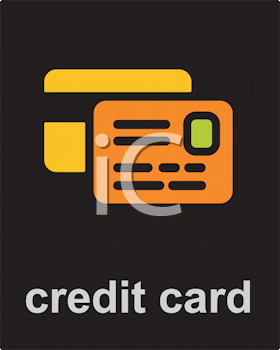 Royalty Free Clipart Image of a Credit Card