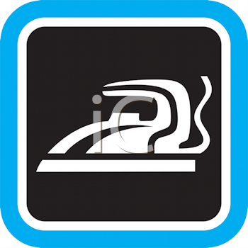 Royalty Free Clipart Image of an Iron