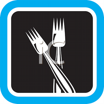 Royalty Free Clipart Image of Forks