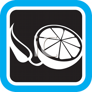 Royalty Free Clipart Image of a Lemon