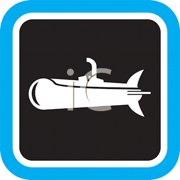 Royalty Free Clipart Image of a Submarine