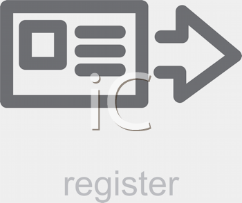 Royalty Free Clipart Image of a Register Icon