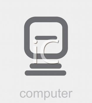 Royalty Free Clipart Image of a Computer Icon