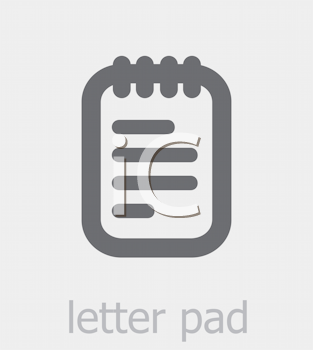 Royalty Free Clipart Image of a Letter Pad