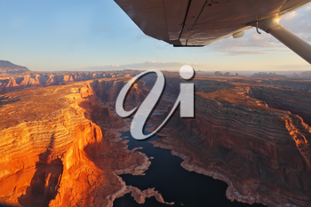 Royalty Free Photo of an Aerial View of Lake Powell