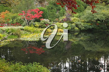 Royalty Free Photo of a Pond in a Garden