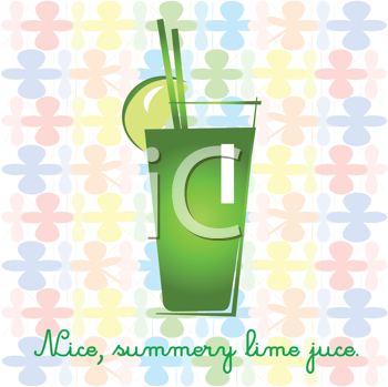 Royalty Free Clipart Image of Limeade