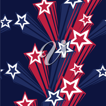 4th of july stars on blue background