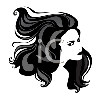 beautiful woman portrait with great hair