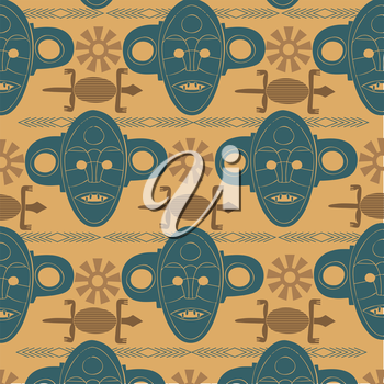 african background in vintage colors