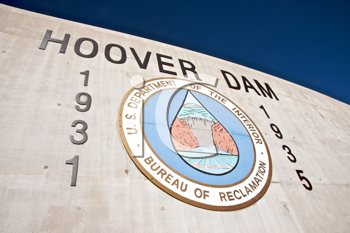 Royalty Free Photo of the Historic Hoover Dam Sign