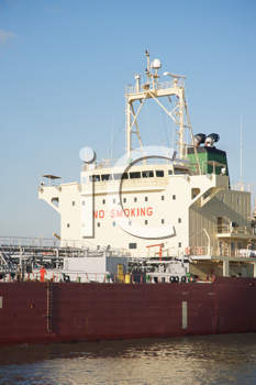 Royalty Free Photo of a Tanker With No Smoking on the Front