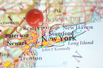 Royalty Free Photo of New York on a Map