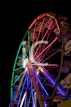 Royalty Free Photo of a Ferris Wheel at Night