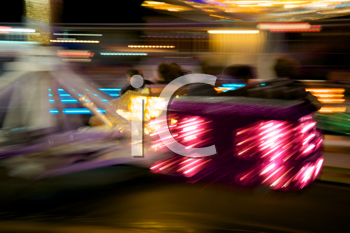 Royalty Free Photo of an Out of Focus Carnival Ride