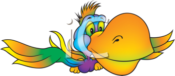 Royalty Free Clipart Image of a Parrot
