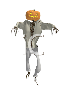Royalty Free Clipart Image of a Pumpkin Man